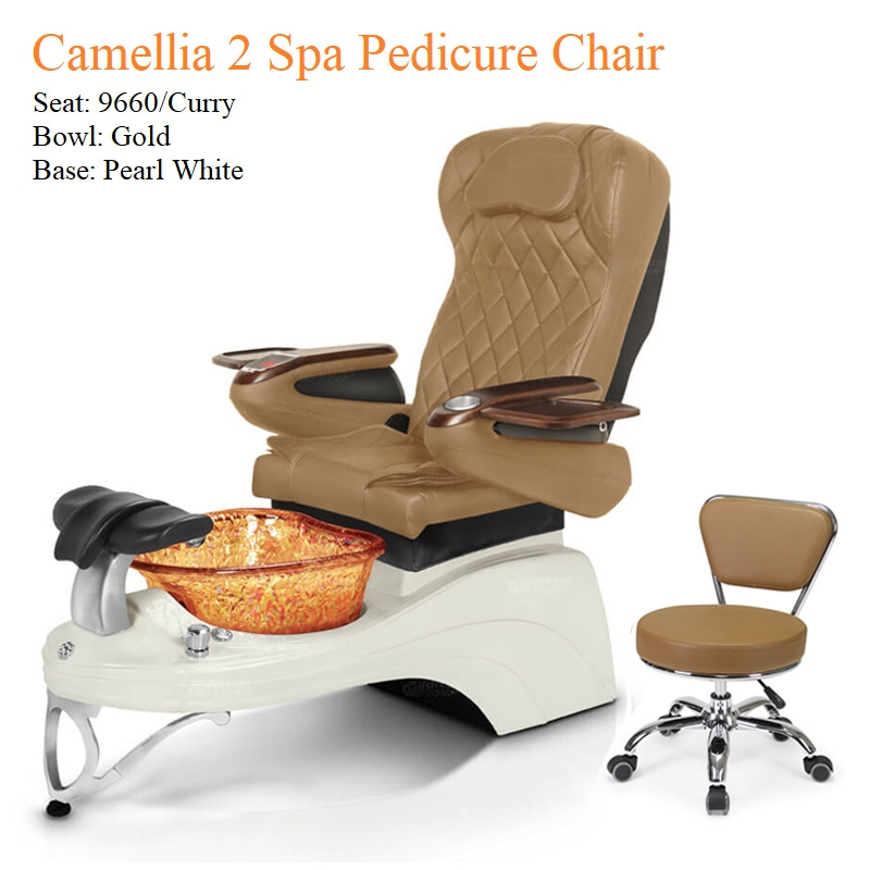 Camellia 2 Luxury Spa Pedicure Chair with Magnetic Jet – Shiatsu Massage System