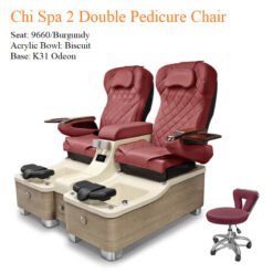 Chi Spa 2 Double Luxury Pedicure Chair with Magnetic Jet – Shiatsu Massage System