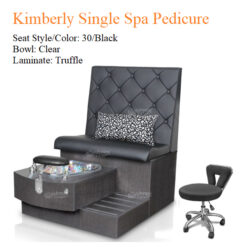 Kimberly Single Luxury Spa Pedicure Bench with Magnetic Jet – Spacious Seating 01 247x247 - Equipment nail salon furniture manicure pedicure