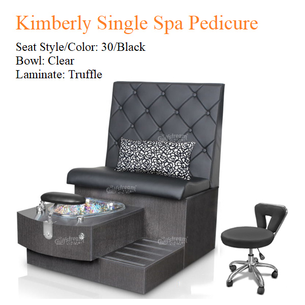 Kimberly Single Luxury Spa Pedicure Bench with Magnetic Jet – Spacious Seating