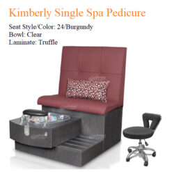Kimberly Single Luxury Spa Pedicure Bench with Magnetic Jet – Spacious Seating 02 247x247 - Equipment nail salon furniture manicure pedicure