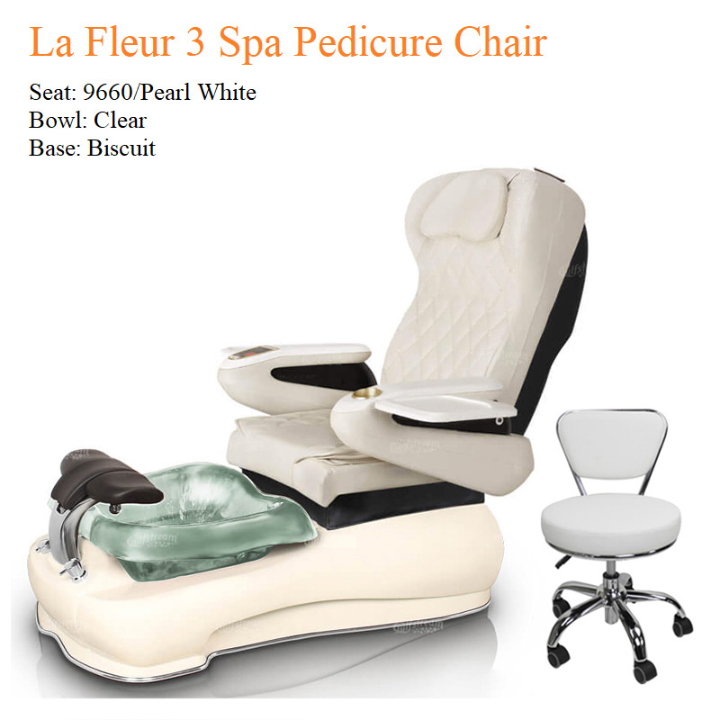 La Fleur 3 Luxury Spa Pedicure Chair with Magnetic Jet – Shiatsu Massage System