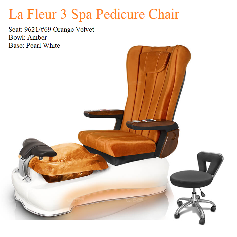La Fleur 3 Luxury Spa Pedicure Chair with Magnetic Jet – Shiatsu Massage System