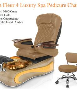 La Fleur 4 Luxury Pedicure Chair with Magnetic Jet – Shiatsu Massage System