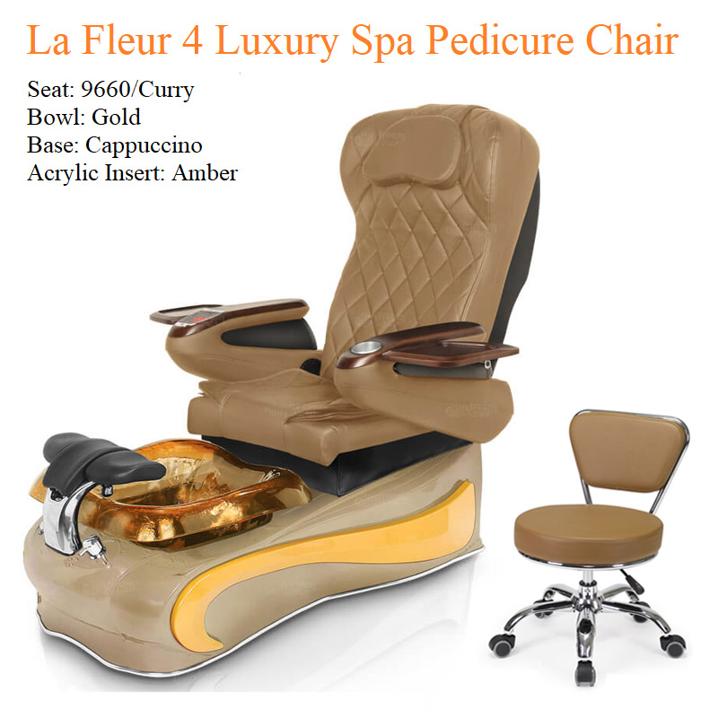 La Fleur 4 Luxury Pedicure Chair with Magnetic Jet – Shiatsu Massage System