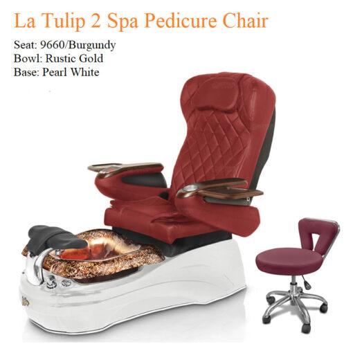 La Tulip 2 Luxury Spa Pedicure Chair with Magnetic Jet – Shiatsu Massage System