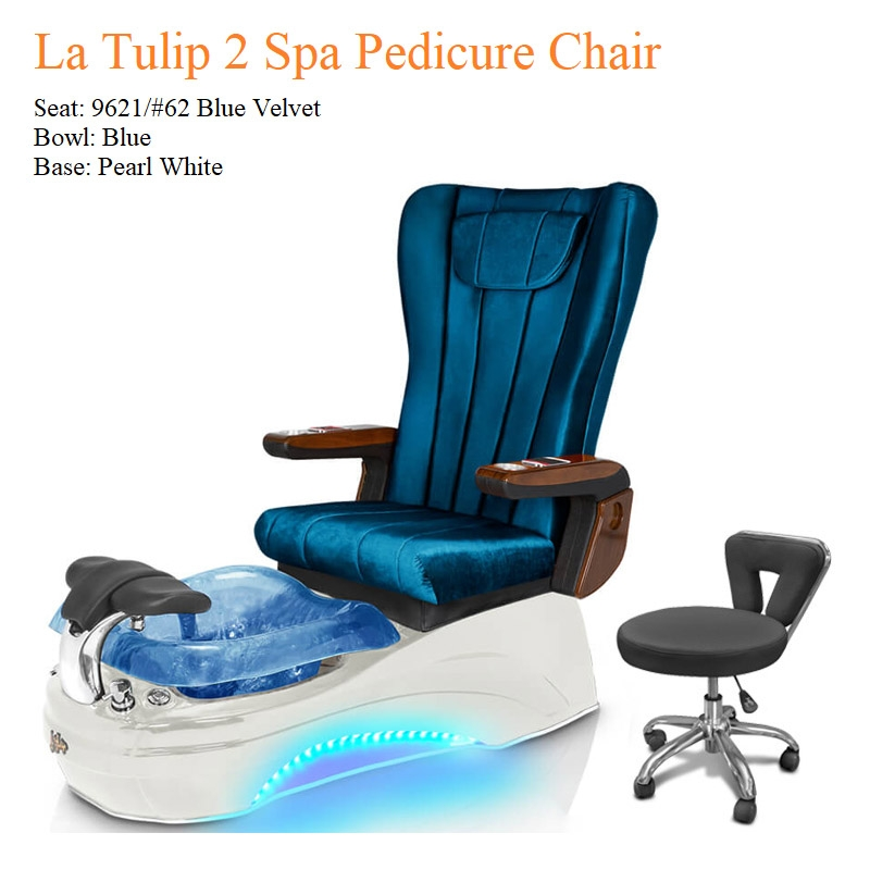 La Tulip 2 Luxury Spa Pedicure Chair with Magnetic Jet – Shiatsu Massage System