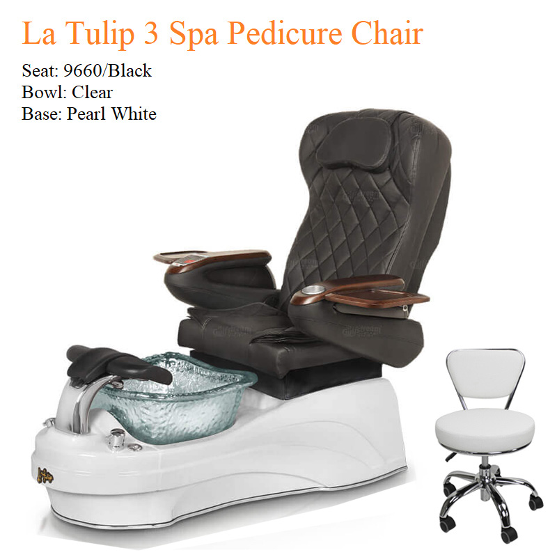 La Tulip 3 Luxury Spa Pedicure Chair with Magnetic Jet – Shiatsu Massage System