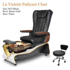 La Violette Luxury Pedicure Chair with Magnetic Jet Shiatsu Massage System Black 247x247 - Pedicure Spa, Nail Table, Furniture & Equipment