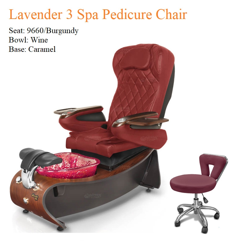 Lavender 3 Luxury Pedicure Chair with Magnetic Jet – Shiatsu Massage System