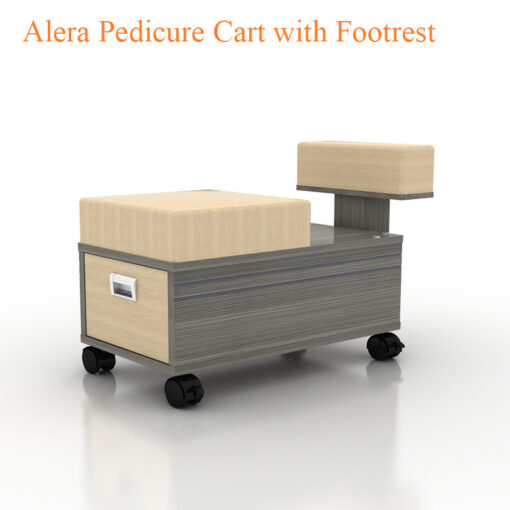 Alera Pedicure Cart with Footrest – 19 inches