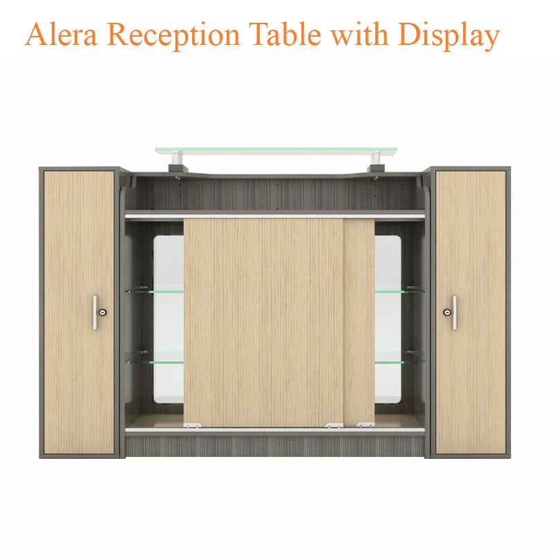 Alera Reception Table with Display – 42 inches