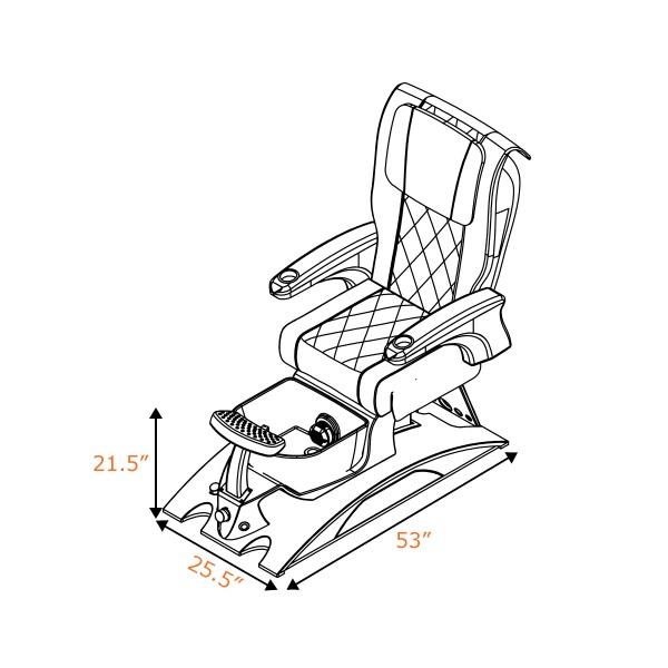 Ghế Làm Chân Cao CấpAgernto SE Với Hệ Thống Mát-Xa Human-Touch Và Jet Nam Châm