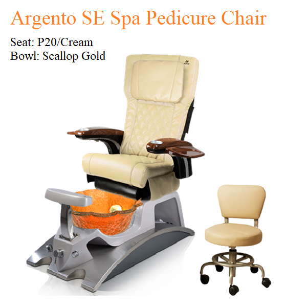 Argento SE Luxury Spa Pedicure Chair with Magnetic Jet – Human Touch Massage System