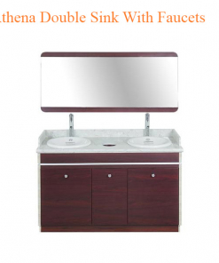 Athena Double Sink With Faucets – 55 inches