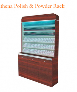 Athena Polish & Powder Rack With Gel Color & Powder Cabinet – 48 inches
