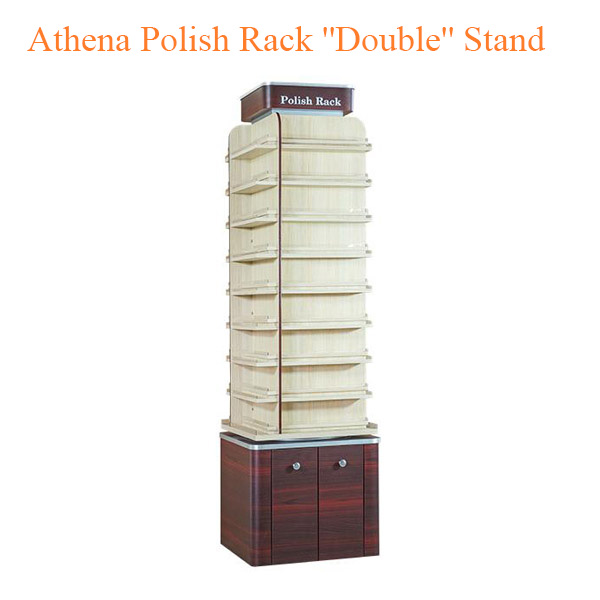 """Athena Polish Rack """"Double"""" Stand – 21 inches"""