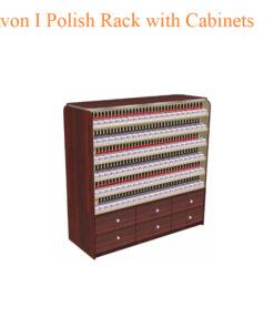 Avon I Polish Rack with Cabinets