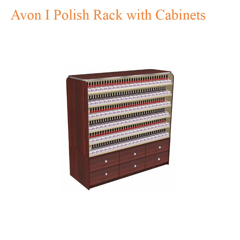 Avon I Polish Rack with Cabinets