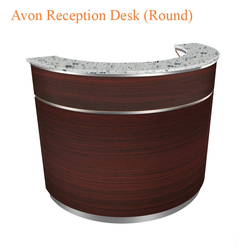 Avon Reception Desk (Round) – 55 inches