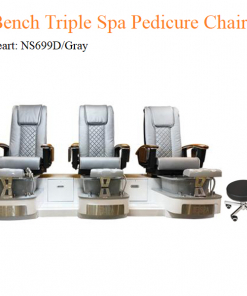 Bench Triple Luxury Spa Pedicure Chair with Magnetic Jet and Built-in-Remote