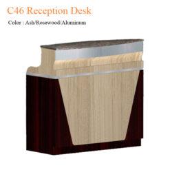 C46 Reception Desk (Ash/Rosewood/Aluminum) – 46 inches