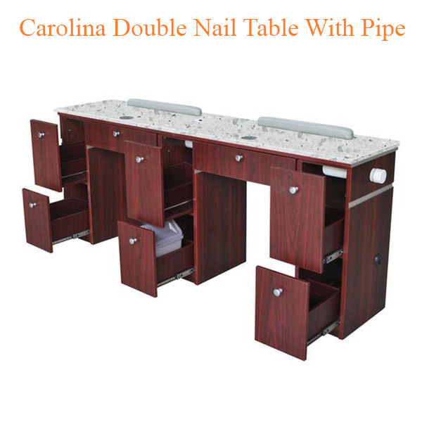 Carolina Double Nail Table With Pipe – 73 inches