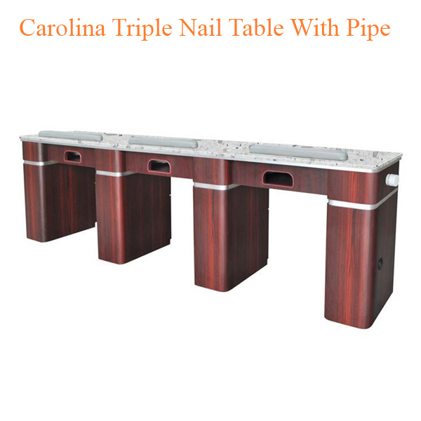 Carolina Triple Nail Table With Pipe – 104 inches