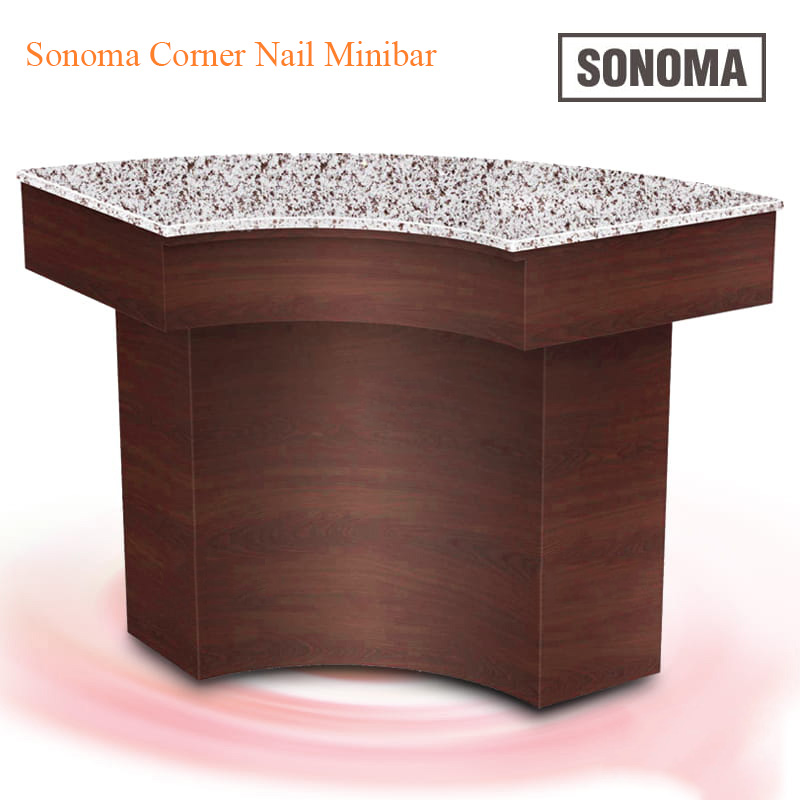Custom Made Sonoma Corner Nail Minibar – 47 inches