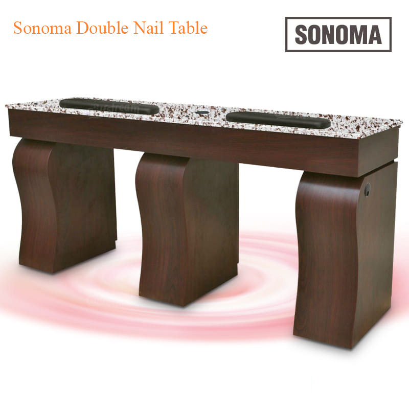 Custom Made Sonoma Double Nail Table – 69 inches