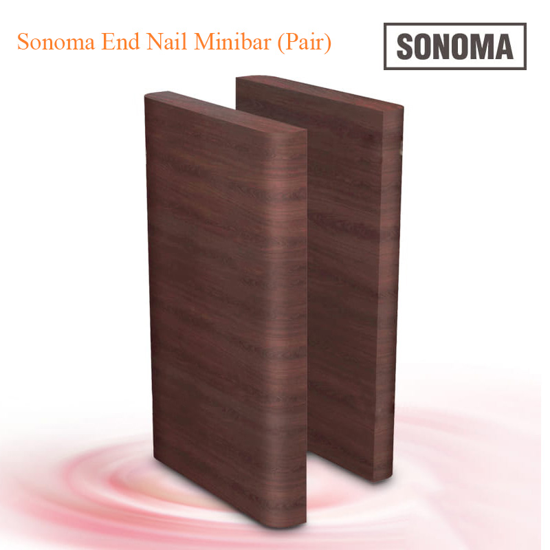 Custom Made Sonoma End Nail Minibar (Pair) – 38 inches