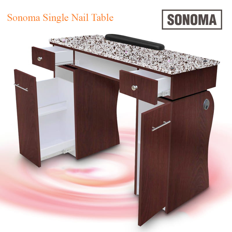 Custom Made Sonoma Single Nail Table – 40 inches