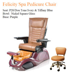 Felicity Spa Pedicure Chair with Magnetic Jet – Human Touch Massage System 018 247x247 - Equipment nail salon furniture manicure pedicure