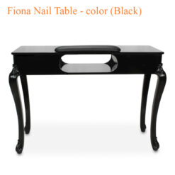 Bàn Nail Fiona Màu Đen – 44 Inches