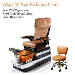 GSpa W Luxury Spa Pedicure Chair with Magnetic Jet – Human Touch Massage System