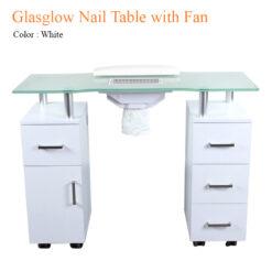 Bàn Nail Glasglow Với Quạt – 40 Inches