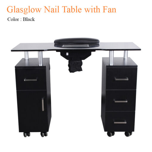Glasglow Nail Table with Fan – 40 inches
