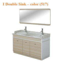 I Double Sink With Faucets – 55 inches – color (517)