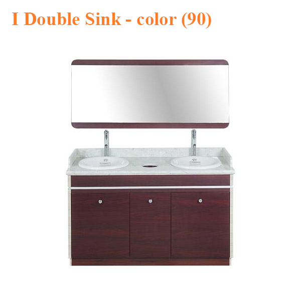 I Double Sink With Faucets – 55 inches – color (90)