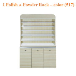 I Polish & Powder Rack With Gel Color & Powder Cabinet – 48 inches – color (517)