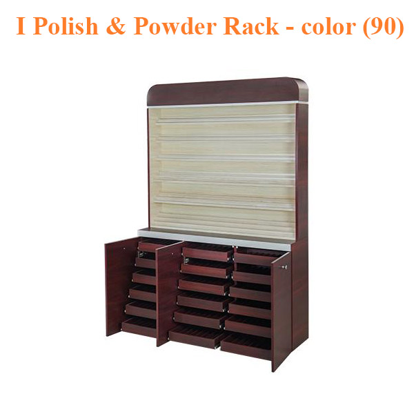 I Polish & Powder Rack With Gel Color & Powder Cabinet – 48 inches – color (90)