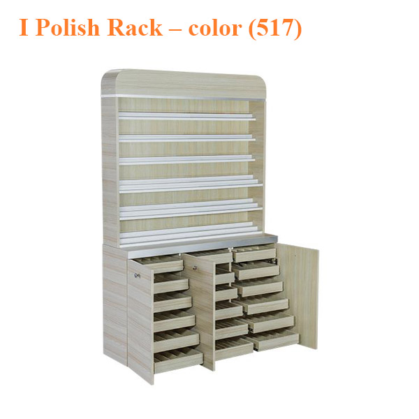 I Polish Rack With Gel Color Cabinet – 48 inches – color (517)