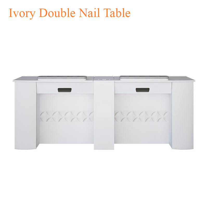 Ivory Double Nail Table – 75 inches