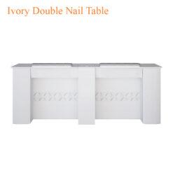Ivory Double Nail Table 75 inches 247x247 - Thiết bị đồ nội thất tiệm nail làm móng tay móng chân