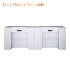 Ivory Double Nail Table 86 inches 0 247x247 - Equipment nail salon furniture manicure pedicure