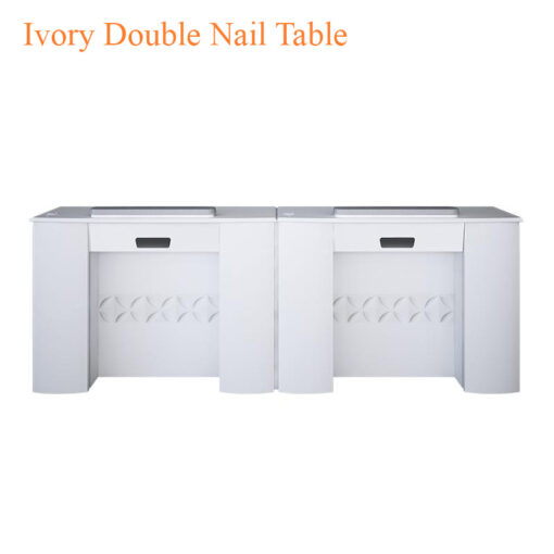 Ivory Double Nail Table – 86 inches