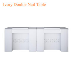 Ivory Double Nail Table 86 inches 247x247 - Equipment nail salon furniture manicure pedicure