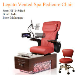 Legato Vented Spa Pedicure Chair with Magnetic Jet – Human Touch Massage System