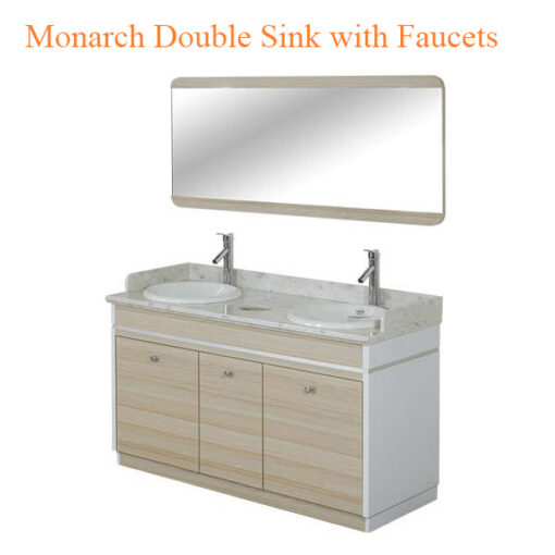 Monarch Double Sink with Faucets – 55 inches