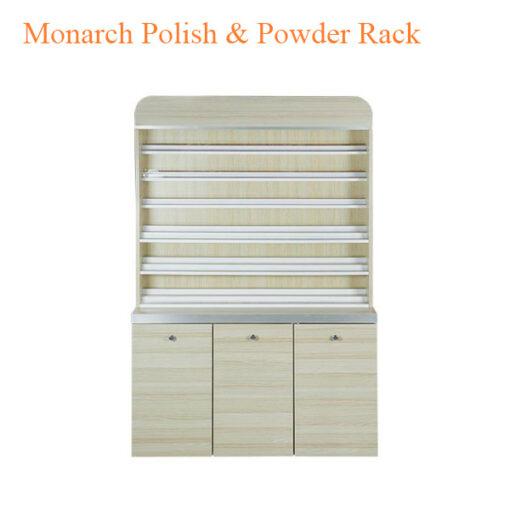 Monarch Polish & Powder Rack with Gel Color & Powder Cabinet – 48 inches